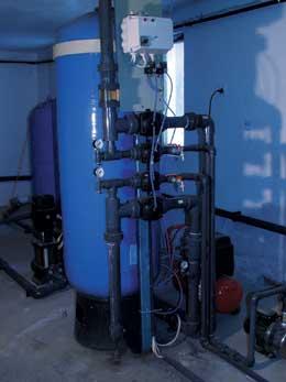 Víztisztító berendezés fúrt kúthoz