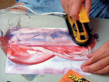 Víz színeinek felfestése