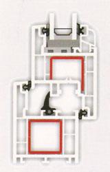 (b) A műanyag ablakok általában kettős, körbefutó tömítéssel ellátottak, ám különleges esetekben egyes típusoknál középtömítést is alkalmaznak