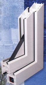 Az ablakprofilok többnyire sík felületűek, élük azonban finoman lekerekített, illetve szögben ferde, ami a csapadékvíz elvezetését segíti elő