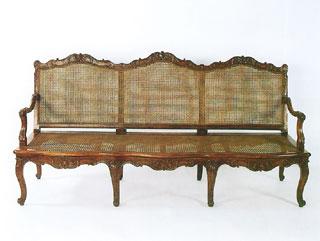 Francia kanapé, 18. század