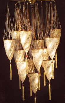 Bizánci stílusú muránói lámpa (2005.)