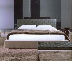 Bőr fejvéggel készült Minotti hálószoba