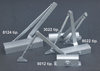 Silver Line ajtóbehúzók típusai lekerekített- (3000-as), magas és szögletes- (5000-es), továbbá lapos, takarófedeles (8000-es) kialakításúak