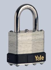 Erős, acéltestű biztonsági lakat, amely leütés ellen is véd.