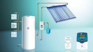 Egy általános napkollektoros rendszer sémája