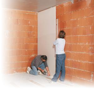 gipszkarton fal ragasztással