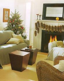 Nagyon egyszerű, nagyon természetes eszközökkel tették karácsonyivá az otthonos nappalit