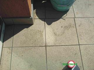 kávéfolt járólapon tisztítás után