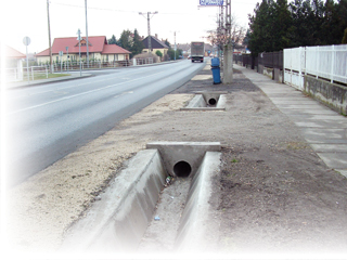 Vízelvezető árok betonelem