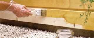 A már lealapozott faanyagok ne kerüljenek a talajjal érintkezésbe