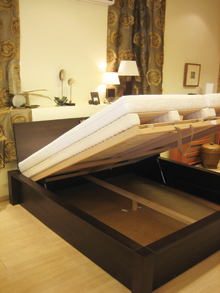 A kétsoros ágyrács rendszer a régi ágykeretekbe is beépíthető