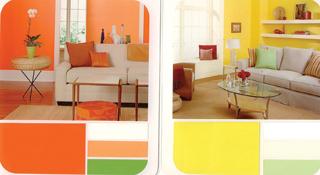 A sárgák a narancstól a citromig üdévé, vidámmá teszik a környezetet.