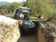 Vasbeton vízgyűjtő tartályok