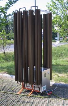 A levegő, szél, csapadék hőjét egyaránt hasznosító hőleadó/felvevő egység