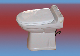 Egybeépített darálós wc