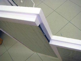 INHEMIWA panel lépcsős pereme és metszete