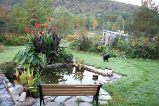 Öntővíz tárolására is alkalmas kerti dísztó
