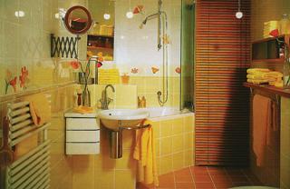 Ha a fürdőben helyezzük el a mosógépet, az fareluxa takarást kaphat, így elrejthetjük a száradó vagy vasalandó ruhákat is