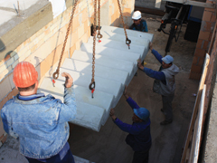 Méretre gyártott betonelemek az építőiparban