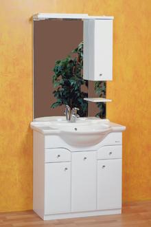 A lábon álló mosdószekrényeket is célszerű a falhoz rögzíteni