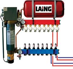 Az elektromos kazánból több radiátorhoz is eljut a melegvíz