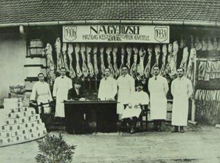 Képek a múzeum archívumából: régi gyulai hentesmesterek