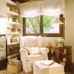 Minden kényelemmel felszerelt olvasó- és pihenőhely, hagyományos formákkal. Modern környezetben is nagyon szép ellenpont lehet