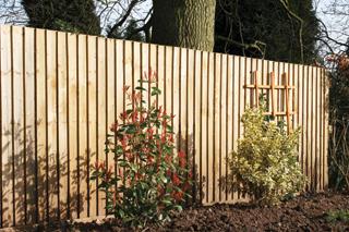 A lécsűrűséggel szabályozhatjuk mennyire legyen átlátható a kerítés