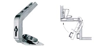 A sarokajtókhoz nyitásuknak megfelelő geometriájú- és nyílású pántok használhatók